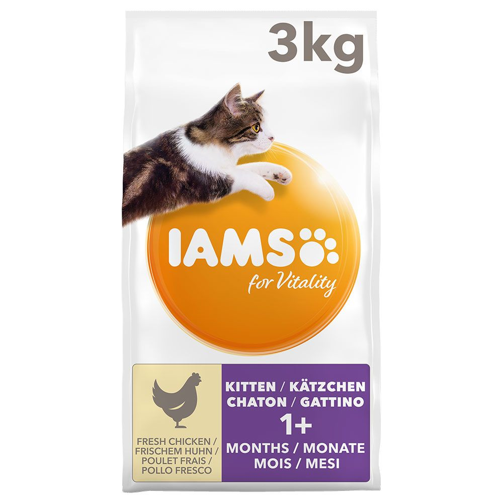 Chicken Kitten & Junior for Vitality IAMS Dry Cat Food