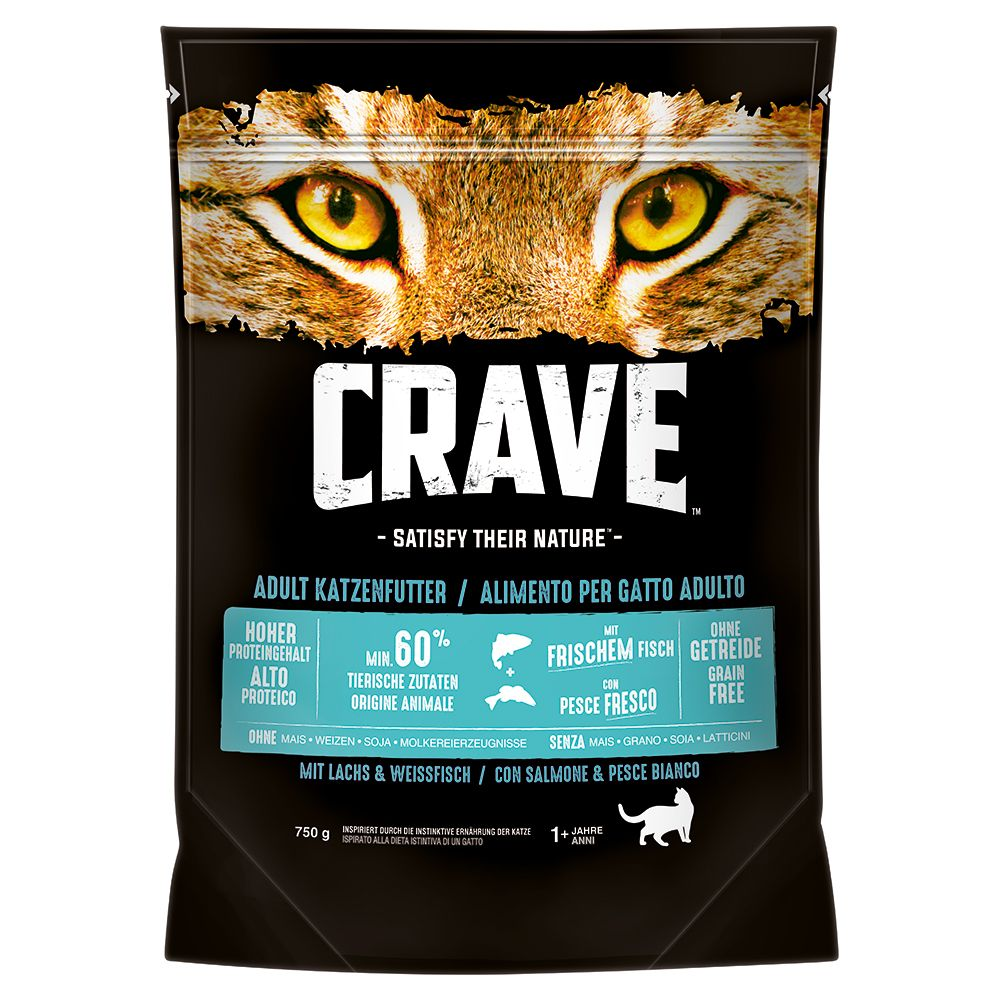 Salmon & Whitefish Adult Crave Dry Cat Food