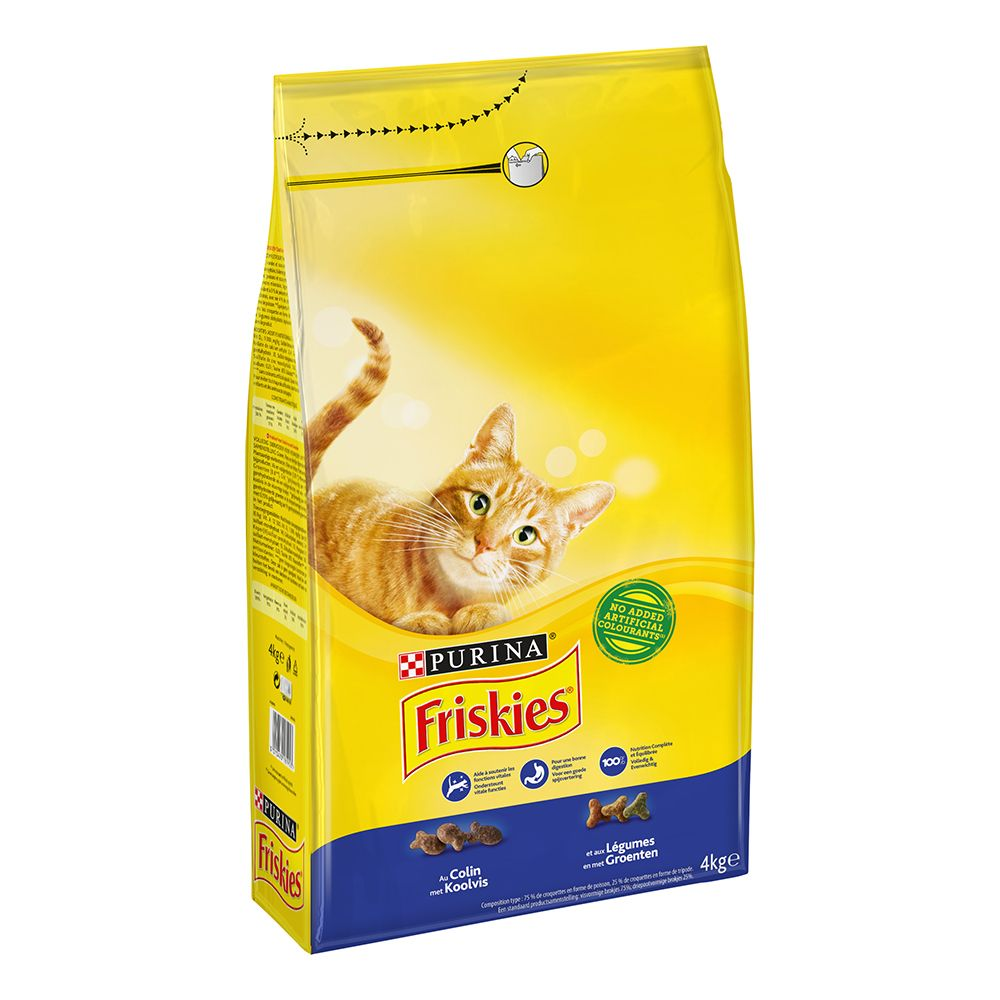 Purina Friskies Adult Cod & Vegetables kattfoder - 4 kg