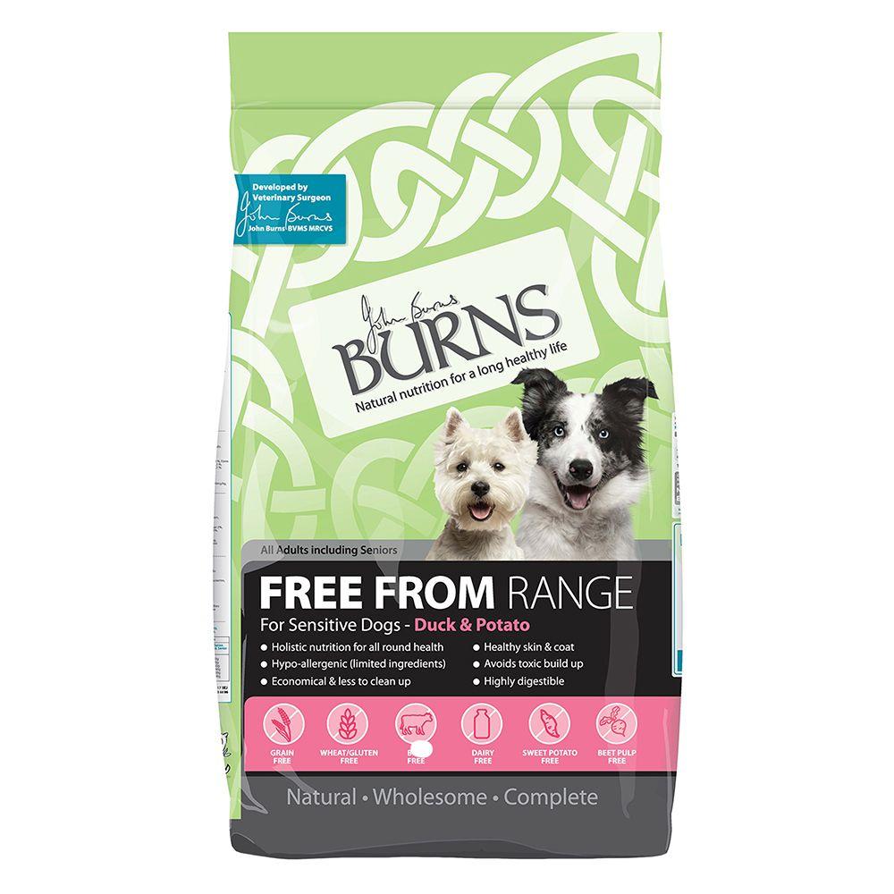 Burns Free From Adult Dry Dog Food - Duck & Potato - Ekonomipack: 2 x 12 kg