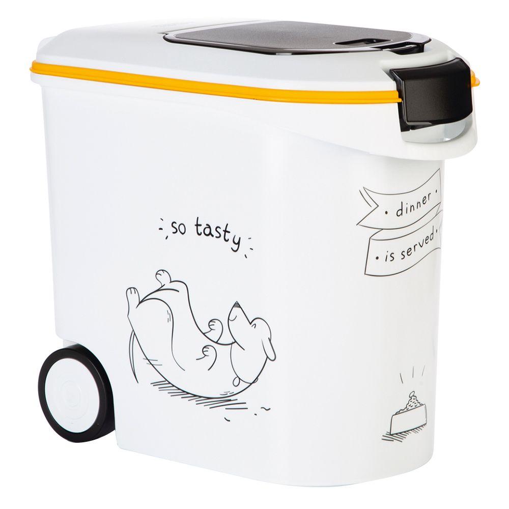 Curver Trockenfutterbehälter Hundesilhouette - bis 12 kg Trockenfutter