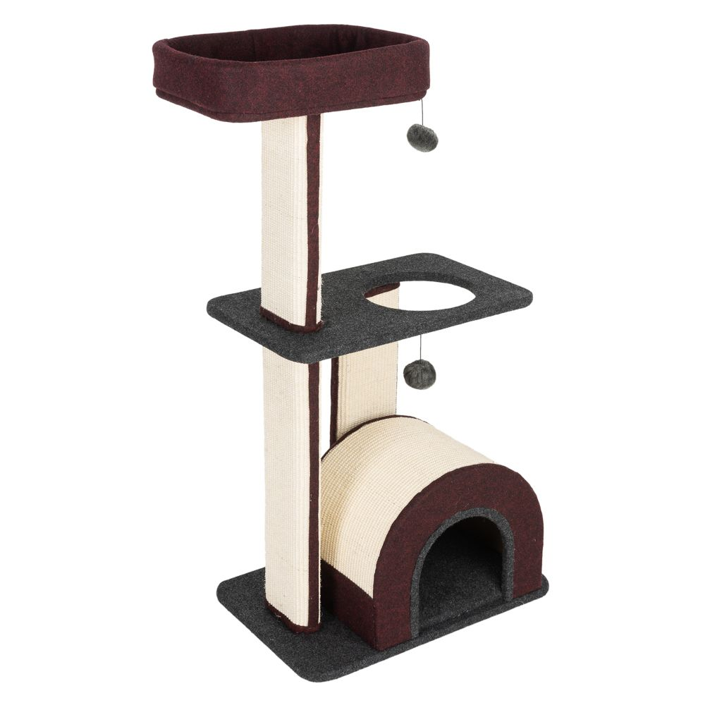 Wine Red Cabana Medium Cat Tree