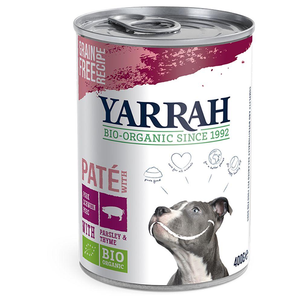 Yarrah Organic Pork Paté with Organic Parsley & Organic Thyme - Saver Pack: 24 x 400g