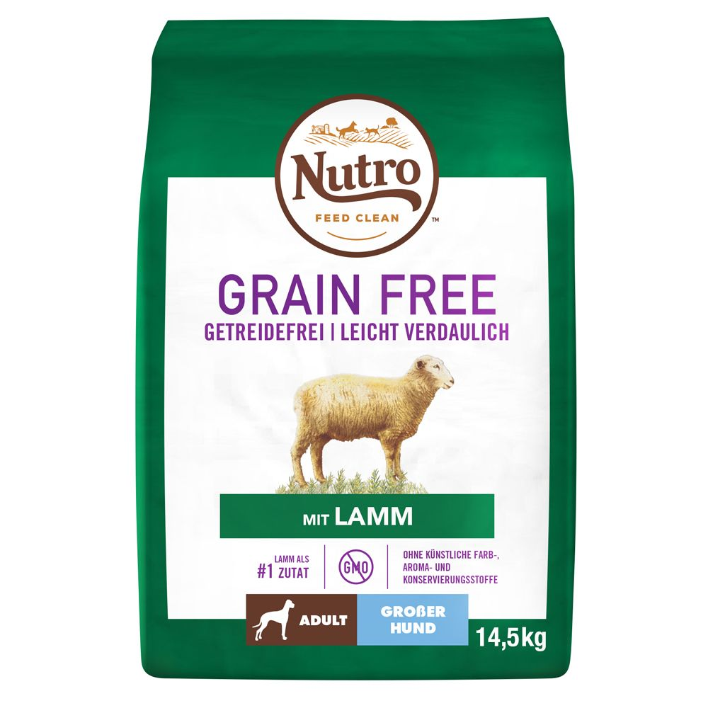 Nutro Dog Grain Free Adult Large Lamb - Ekonomipack: 2 x 14,5 kg