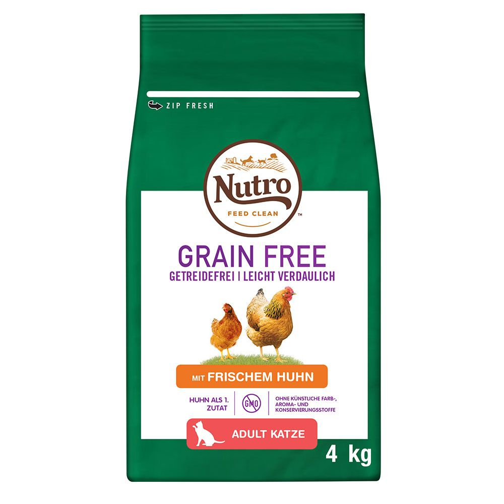 Nutro Cat Grain Free Adult Chicken - Ekonomipack: 3 x 4 kg