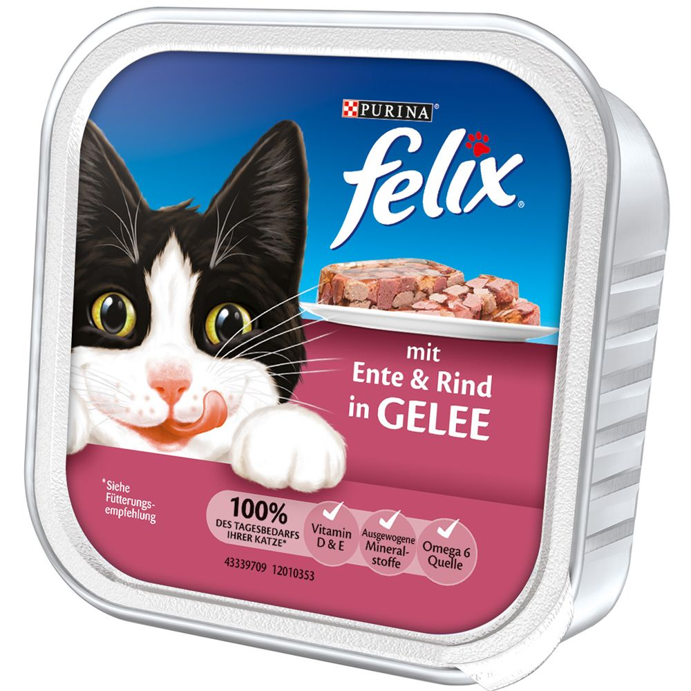Felix Chunks in Jelly 32 x 100g - Salmon & Plaice
