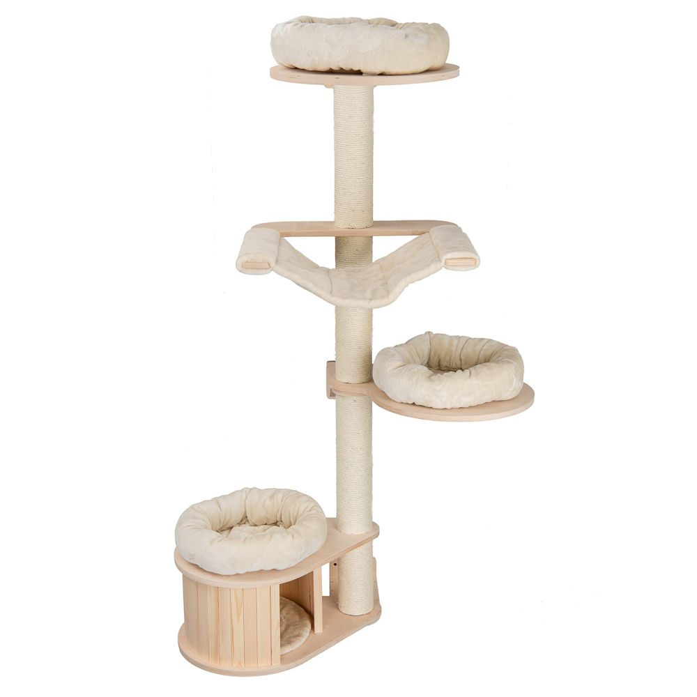 Natural Paradise Wall Cat Tree - Cream