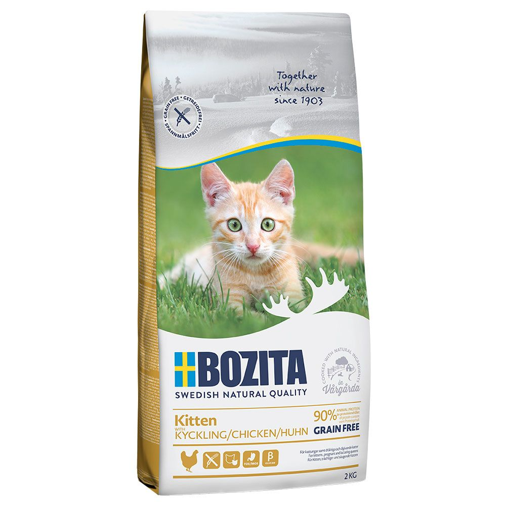 10kg Chicken Kitten Grain Free Bozita Dry Cat Food
