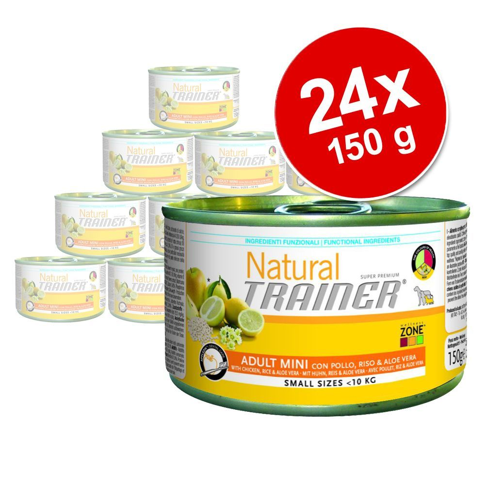 Foto Trainer Natural Adult Mini 24 x 150 g - Pollo, Riso e Aloe Vera Set risparmio