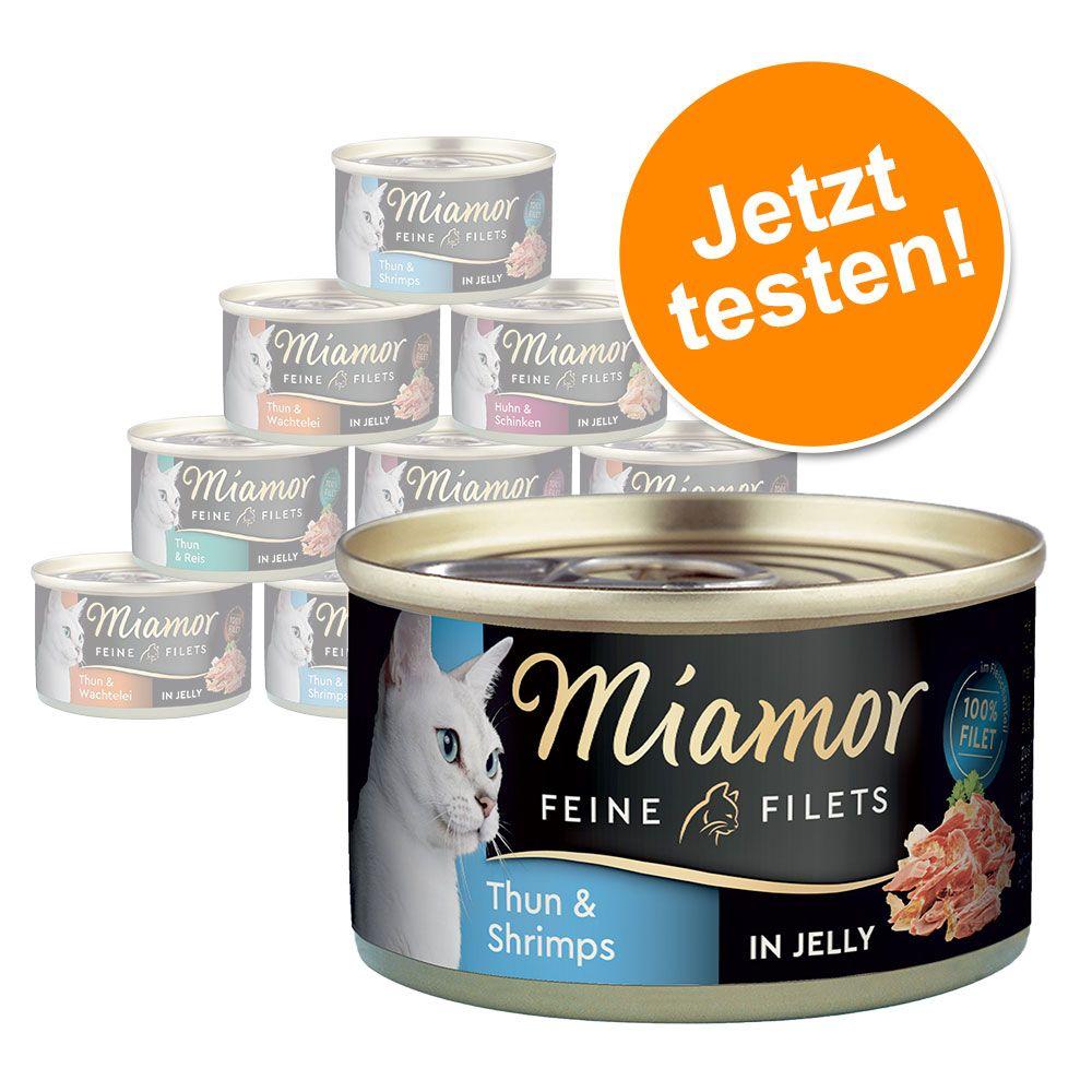 Probiermix Miamor Feine Filets 12 x 100 g - Mix II (4 Sorten)
