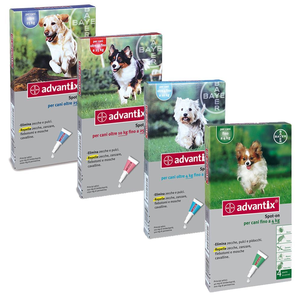 Foto Advantix Spot-on per cani - per cani oltre 25 kg - 4 pipette da 4,0 ml