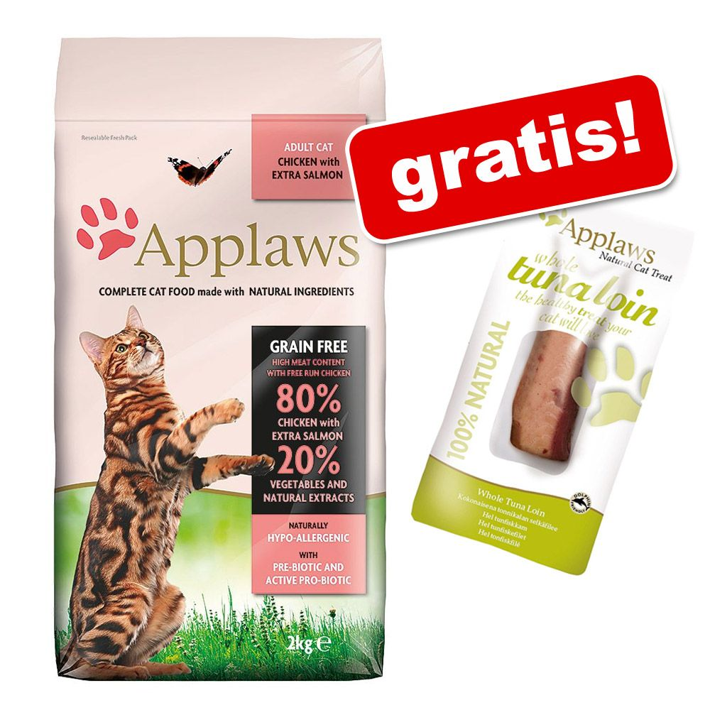 Image of 2 kg Applaws Katzenfutter + 30 g Cat Tuna Loin Katzensnacks gratis! - für Kitten