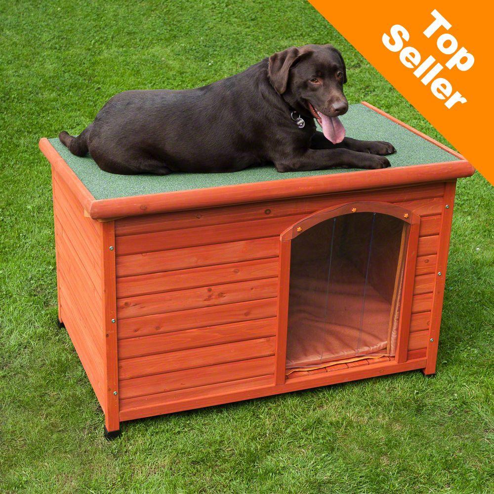 Foto Cuccia per cani Woody con porta - L115 x P76 x H80 cm zooplus Con tetto piano