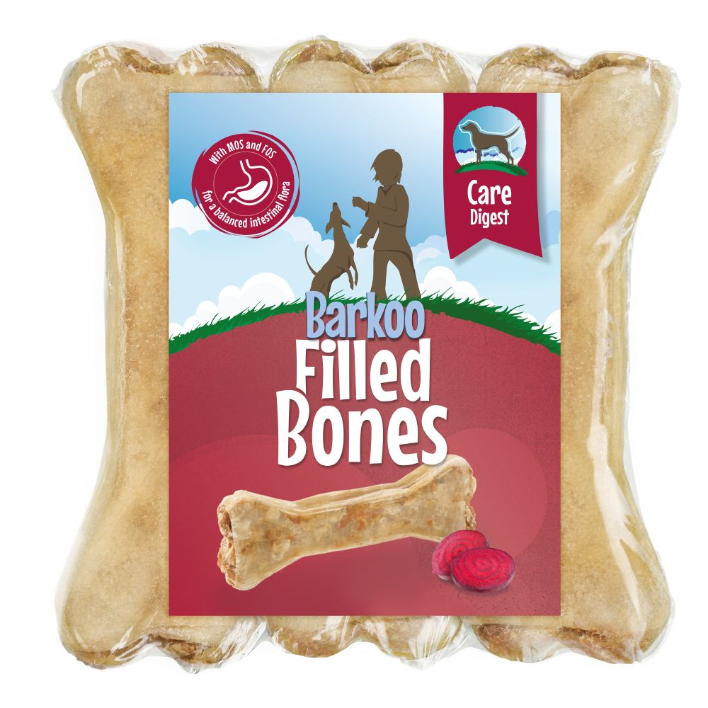 18 x 12cm Barkoo Filled Chew Bones – Special Price!* - Digest with Beetroot (18 x 12cm)