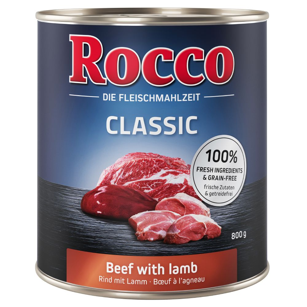 Beef with Poultry Hearts Classic Rocco Wet Dog Food