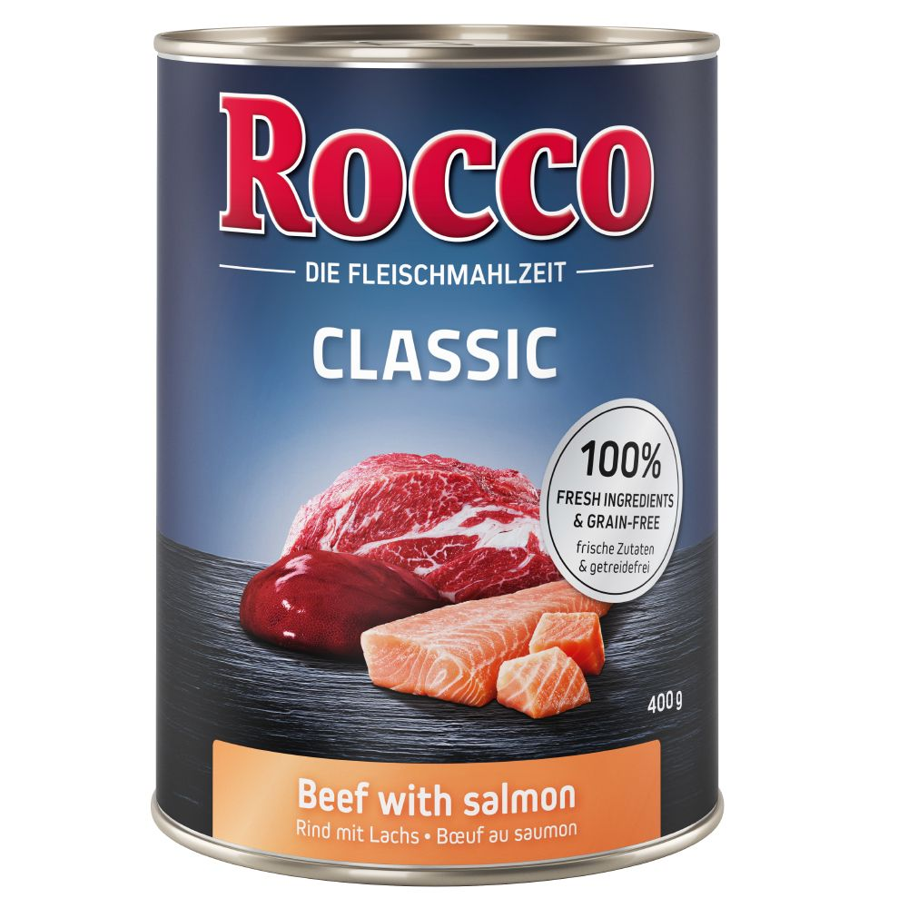 Beef with Salmon Rocco Classic Wet Dog Food