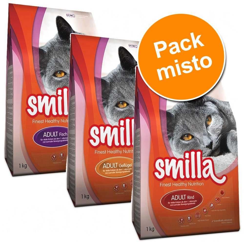 Smilla Adult Pack misto com 3 variedades - 3 x 1 kg