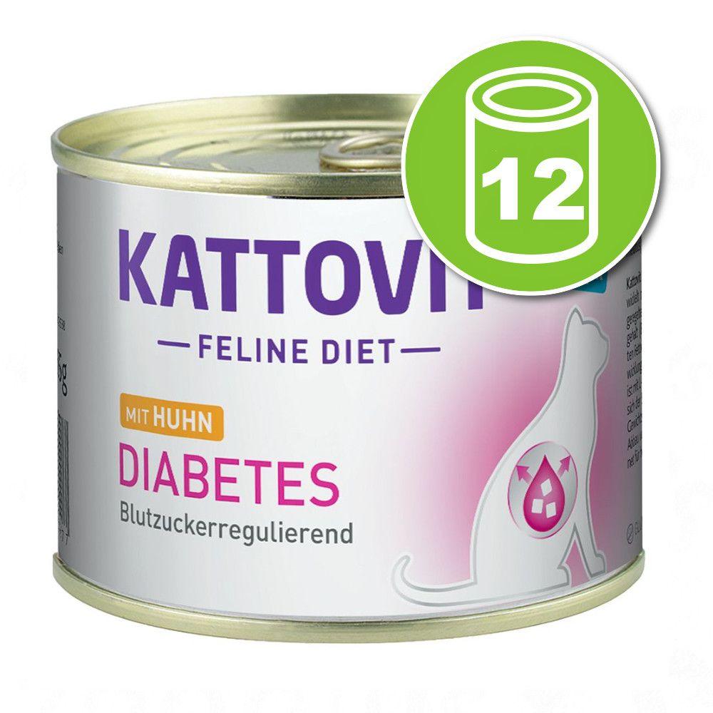 12x185g Kattovit Diabète poulet - Pâtée pour chat