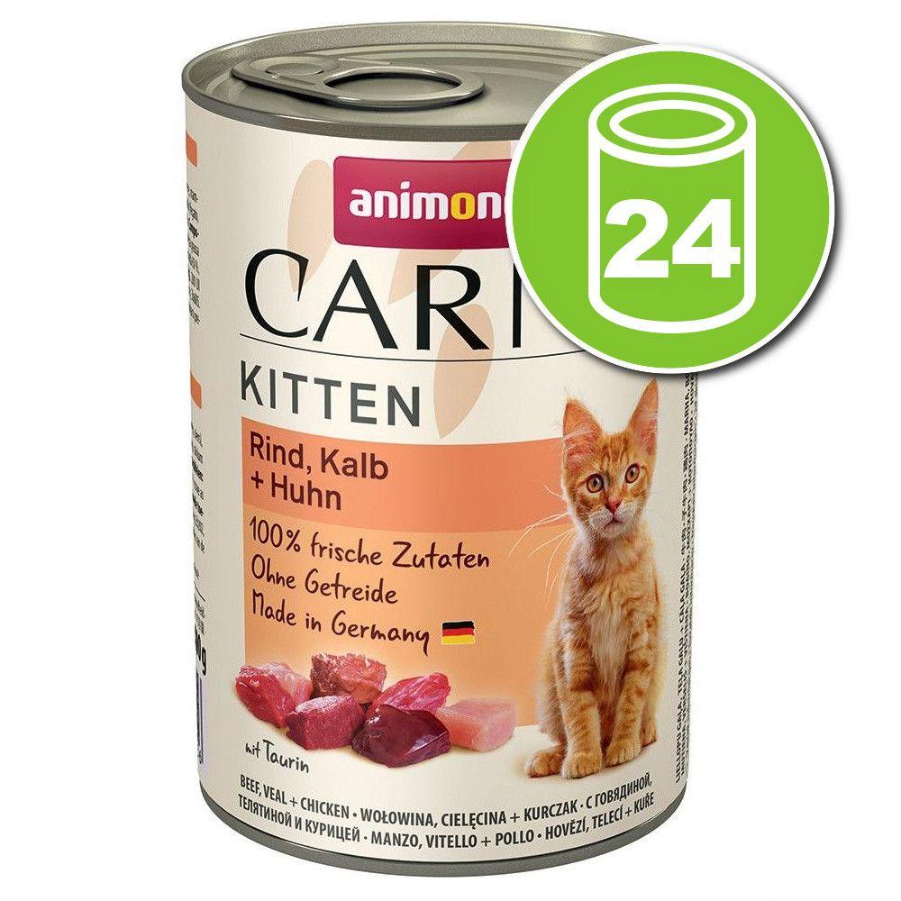 Lot Animonda Carny Kitten 24 x 400 g pour chaton - cocktail de viandes