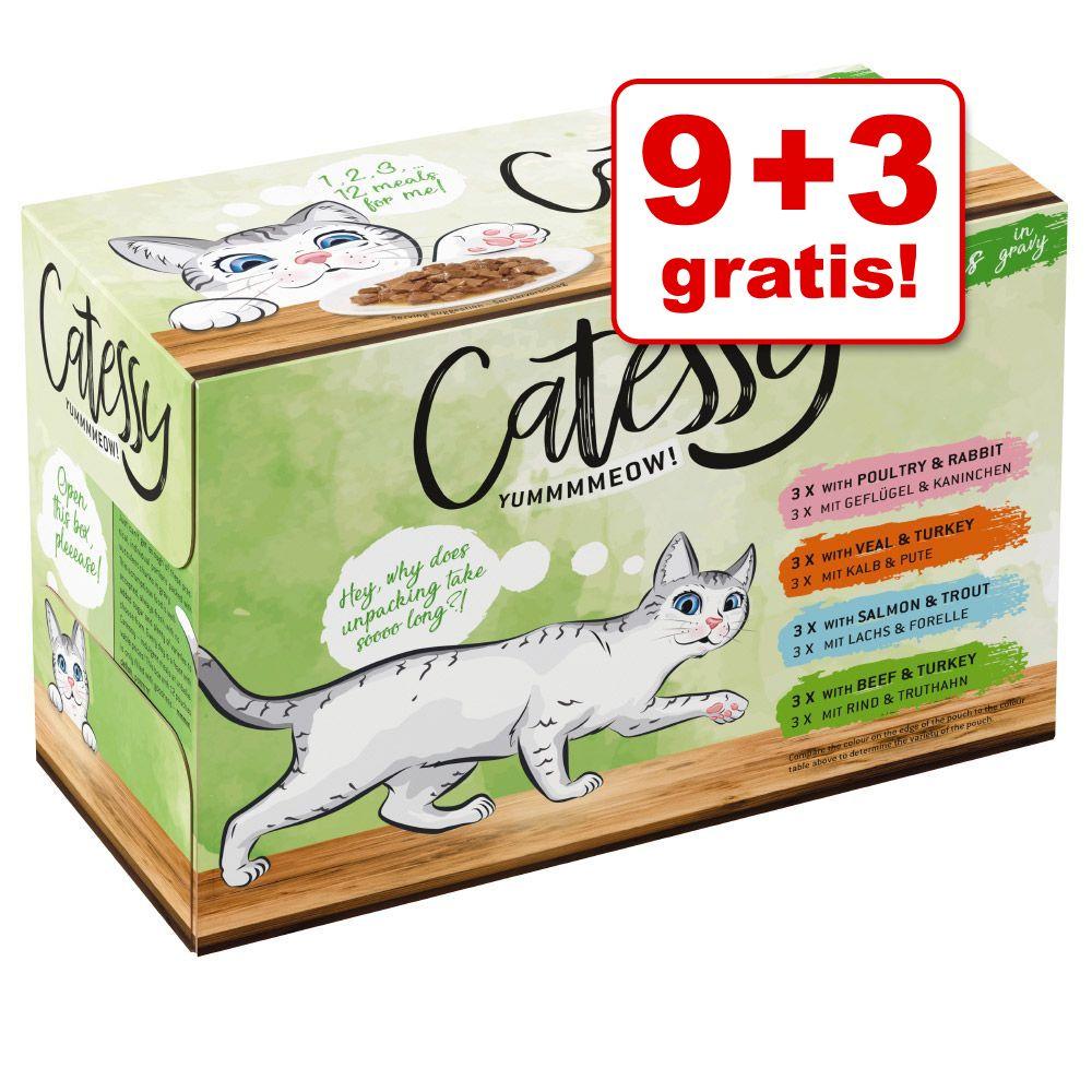 9 + 3 på köpet! 12 x 100 g Catessy bitar i sås/gelé - Bitar i gelé - allsköns grönsaker