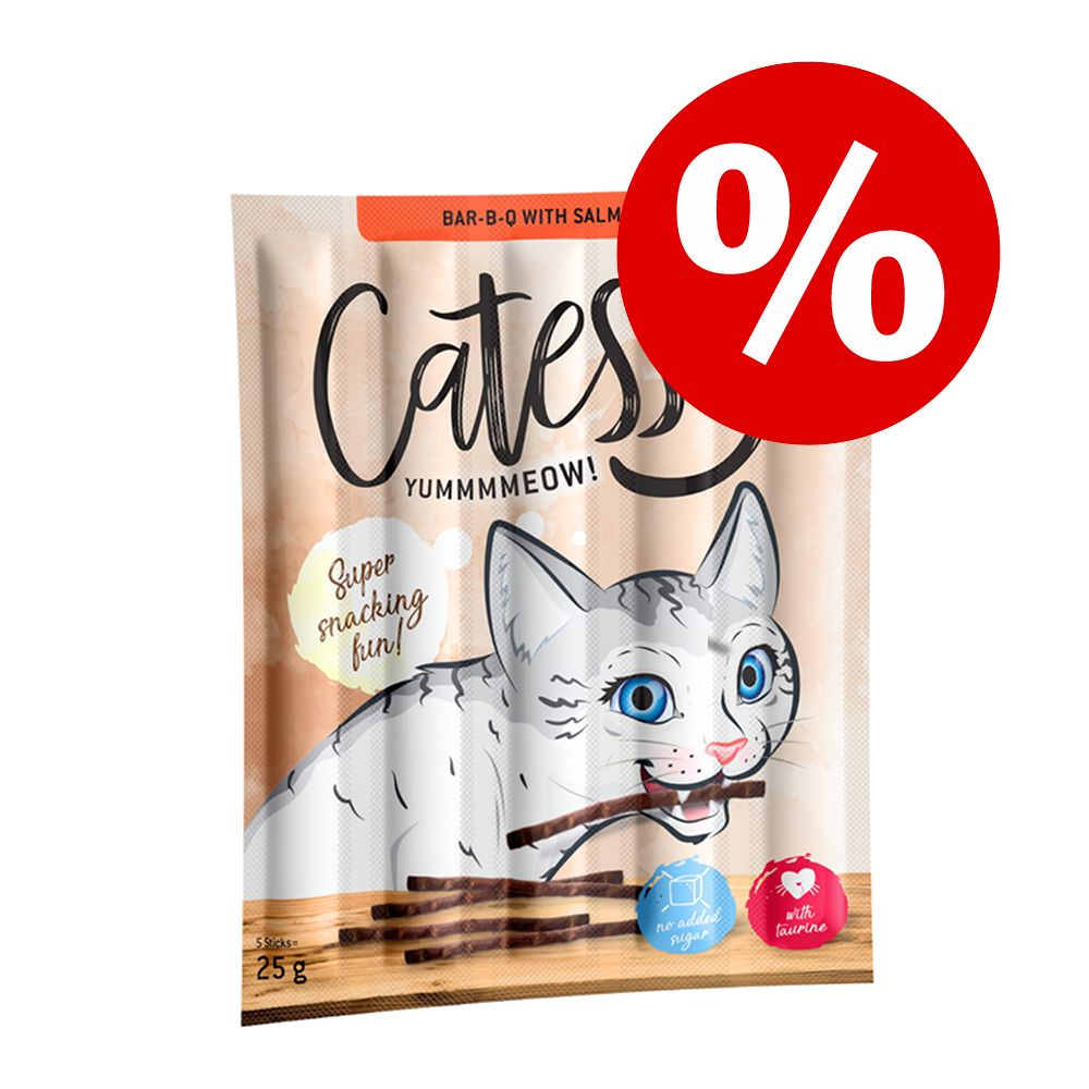 Ekonomipack: Catessy Sticks 50 x 5 g - Bar-B-Q Kalkon