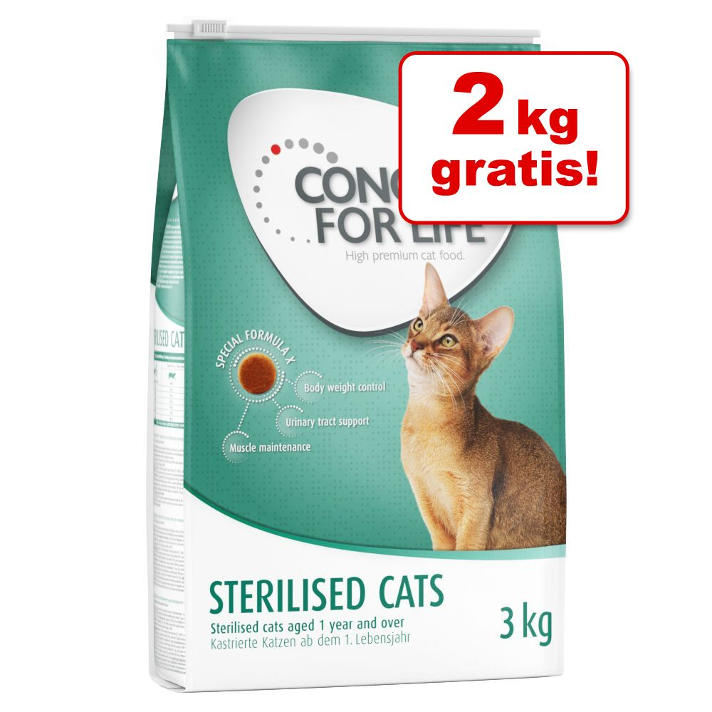 Foto 4 + 2 kg gratis! 2 x 3 kg Concept for Life - All Cats 10+