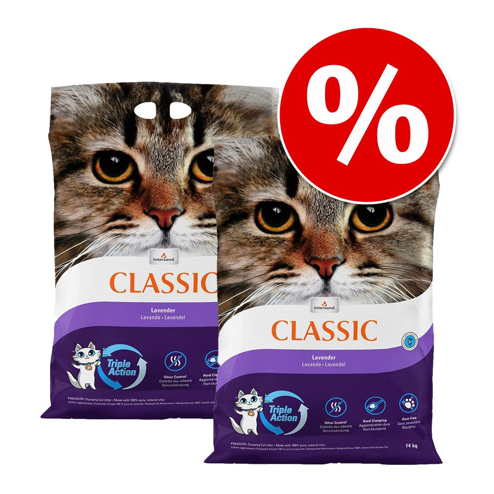 Ekonomipack: Extreme Classic kattsand till lågpris 2 x 14 kg - Babypuderdoft