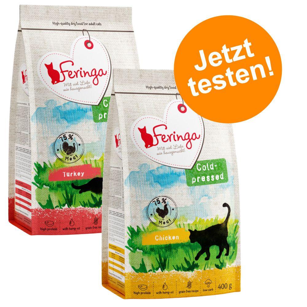 Gemischtes Probierpaket Feringa Trockenfutter kaltgepresst 2 x 400g - Mix: 2 x 400g (2 Sorten)