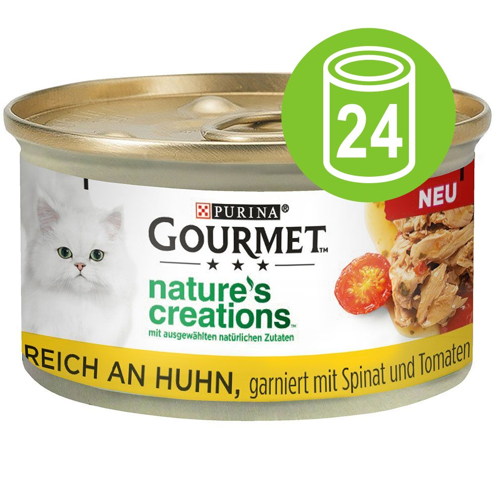 Ekonomipack: Gourmet Nature's Creations 24 x 85 g - Tonfisk med tomat & ris