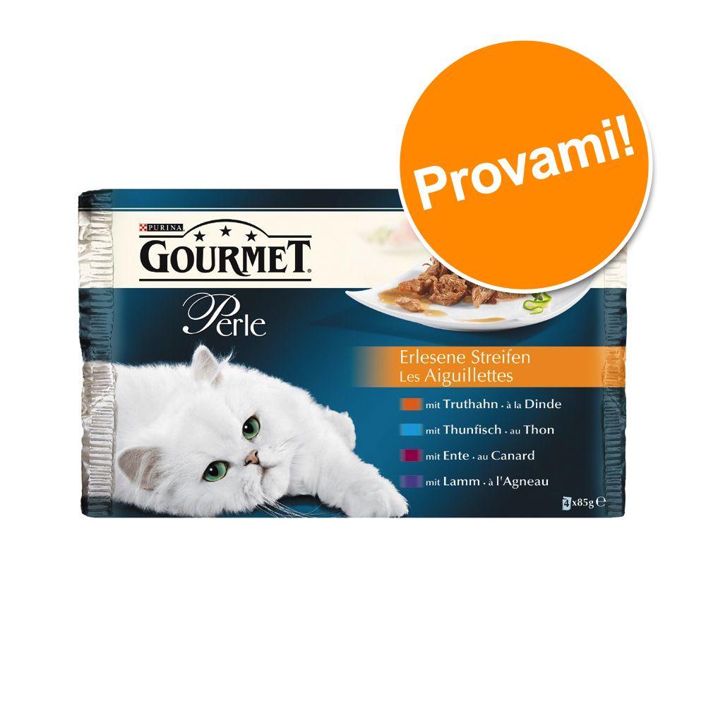 Image of Set prova misto! Gourmet Perle 4 x 85 g - Filettini in Salsa (Tacchino, Tonno, Anatra & Agnello)