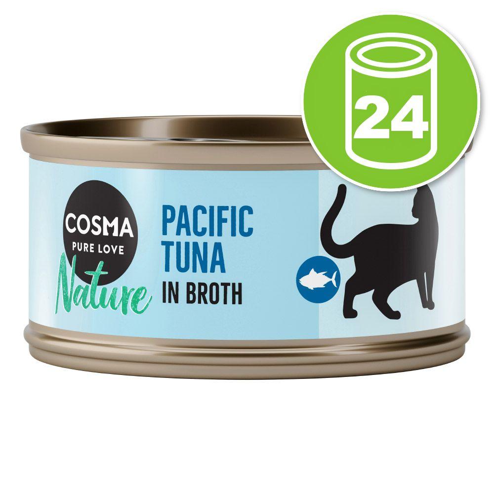 Lot Cosma Nature 24 x 70 g pour chat - thon, anchois - NOUVEAU !