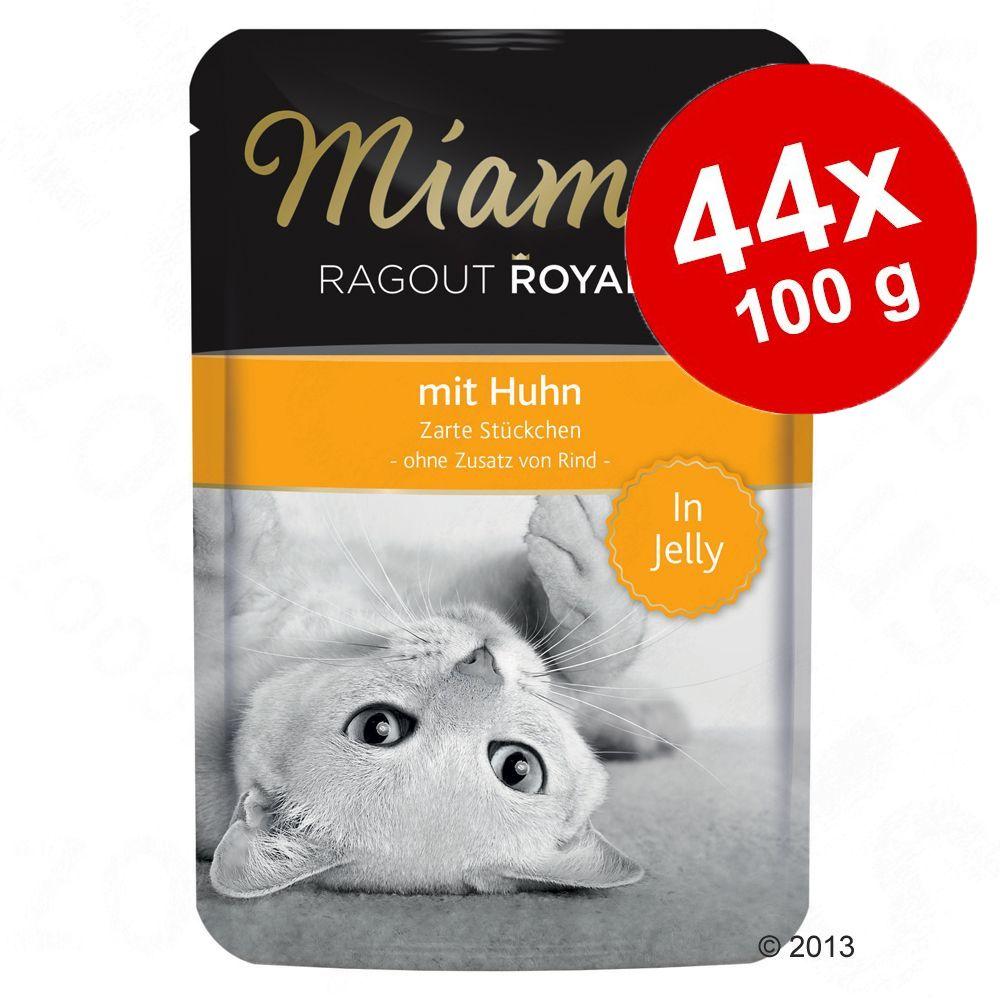 Ekonomipack: Miamor Ragout Royale i gelé 44 x 100 g - Lax