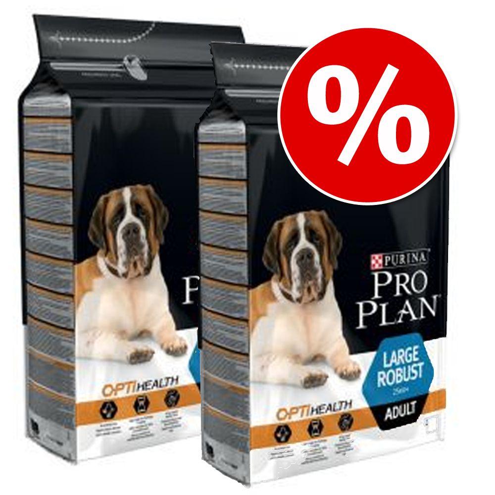 Varčno pakiranje: Pro Plan 2 x 12/14 kg - Large Athletic Adult OPTIBALANCE (2 x 14 kg)