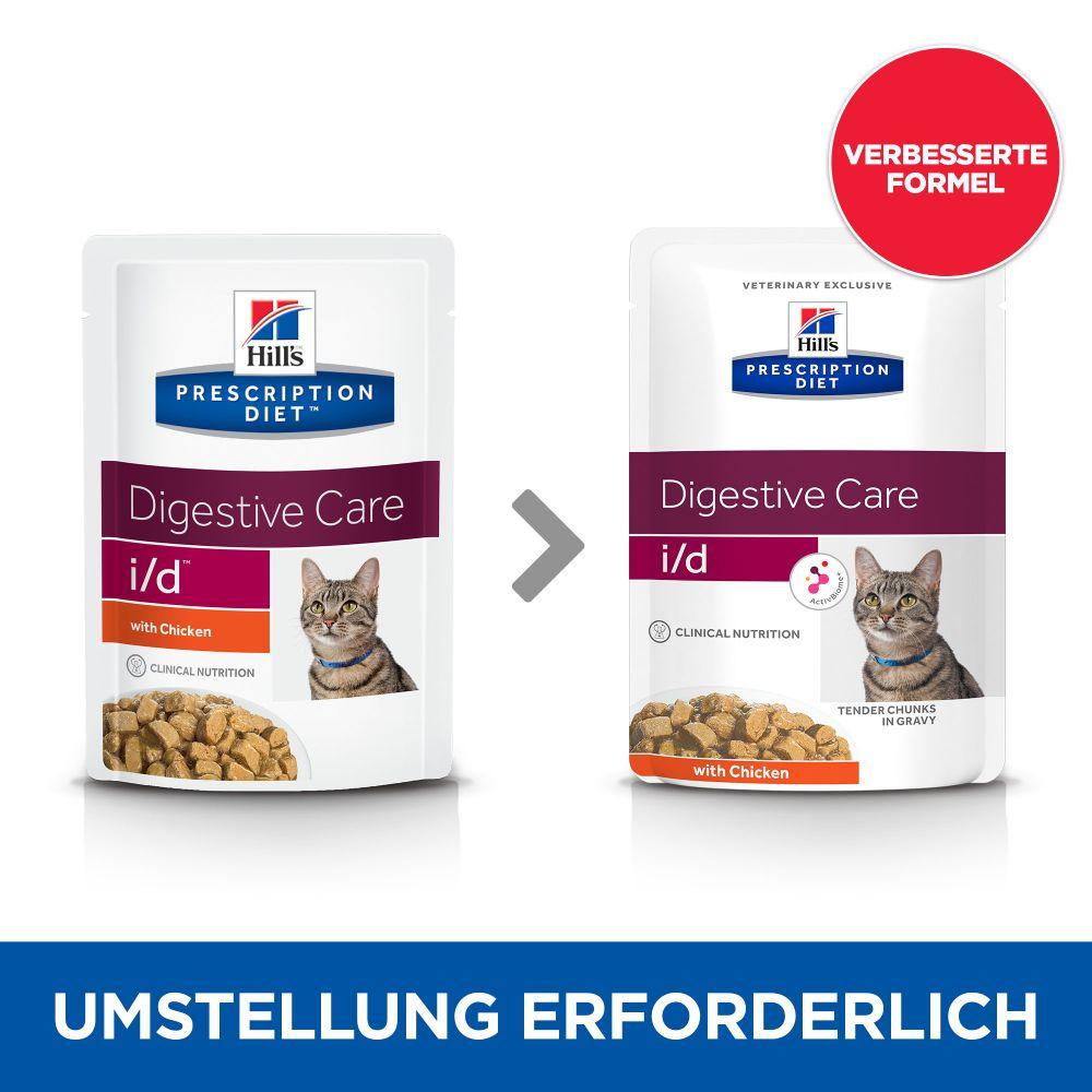 Hill's Prescription Diet i/d Digestive Care Katzenfutter mit Huhn - 48 x 85 g