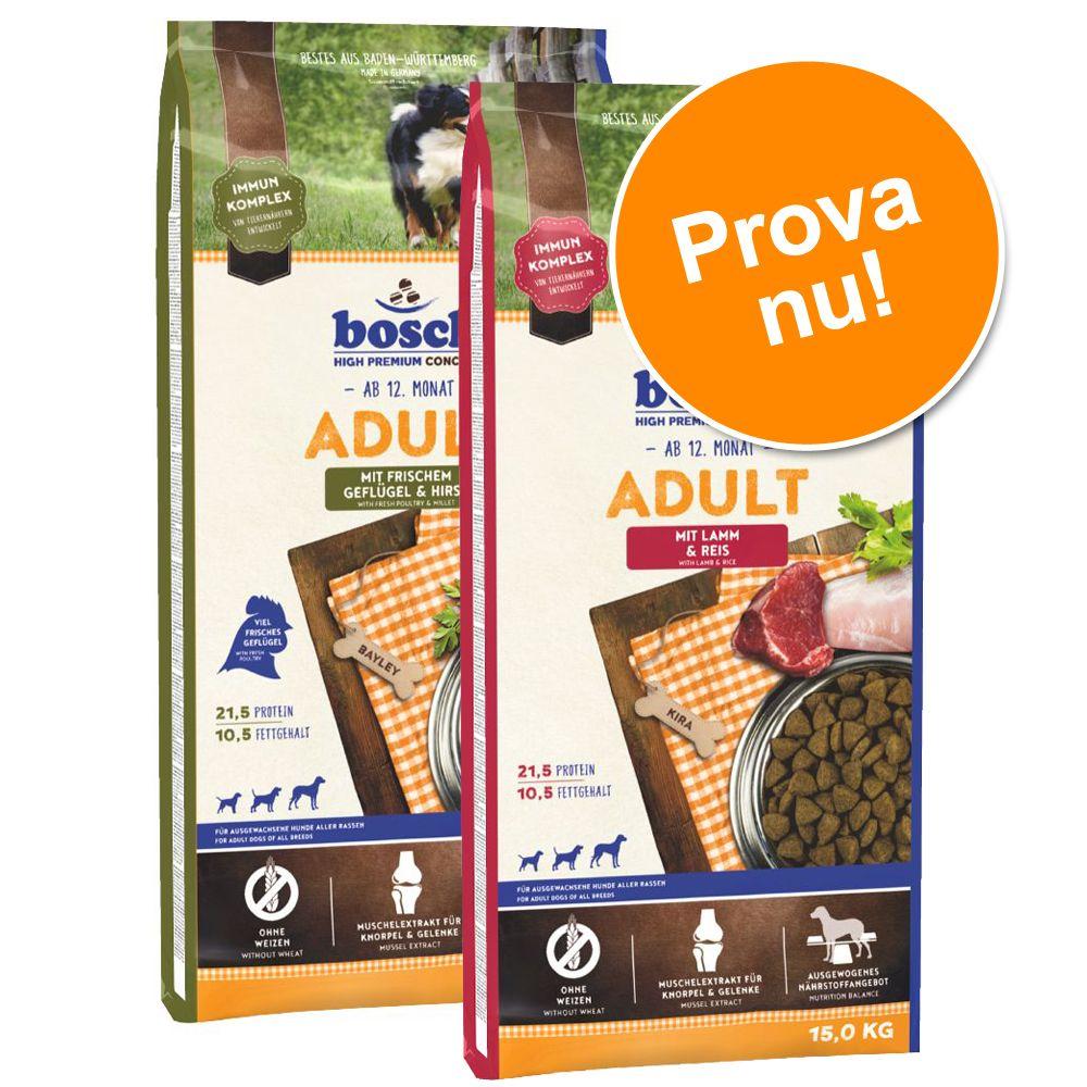 Blandpack: 2 stora påsar bosch hundfoder till lågpris - Maxi Adult/Fågel & hirs