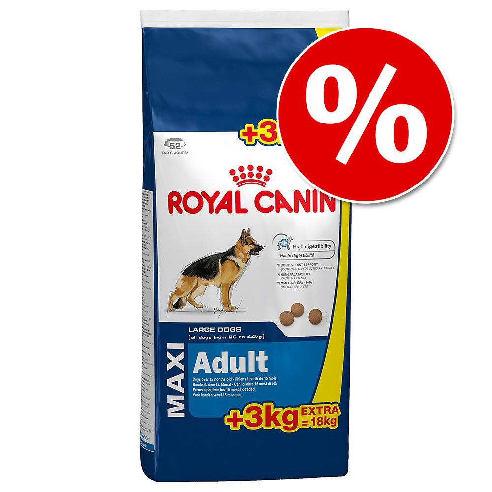 Image of 15 + 3 kg o 8 + 1 kg - Royal Canin Size Overfill - Maxi Adult (15 kg + 3 kg)