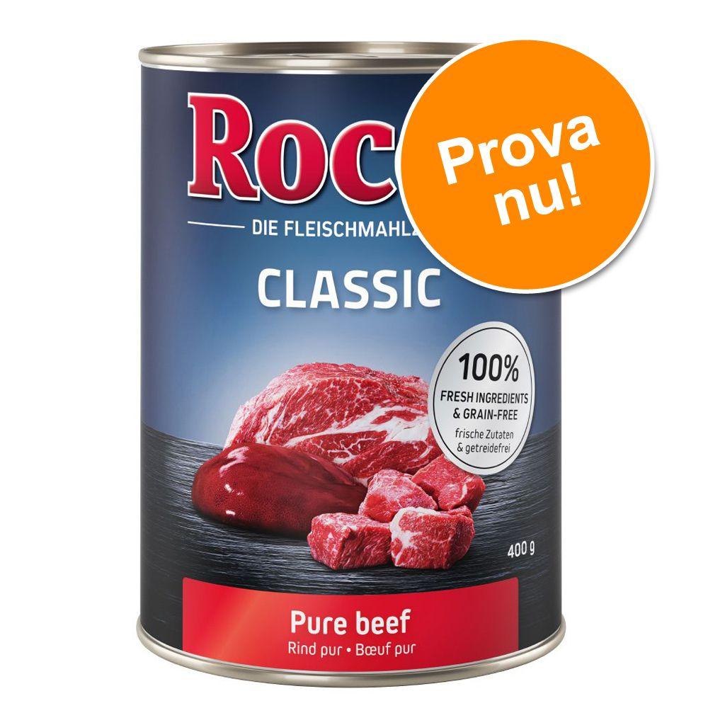 Blandat provpack: Rocco 6 x 400 g hundfoder - 6 olika sorter