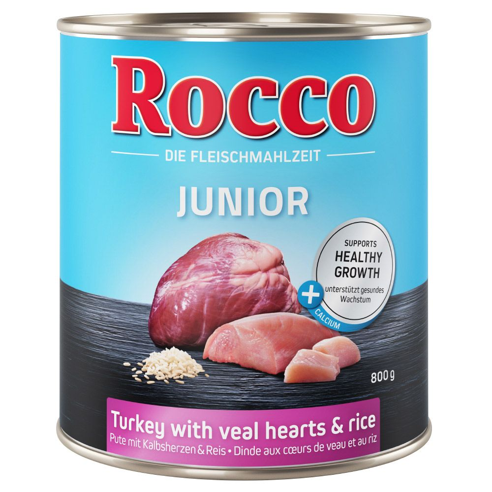 6x800g Junior Beef & Calcium Rocco Wet Dog Food