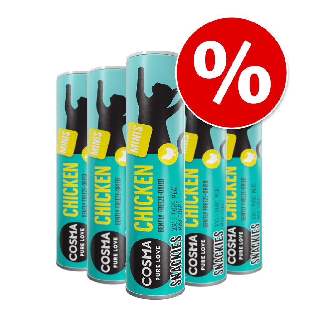 Image of 1 + 1 gratis! 2 x Cosma Snackies - 2 x 25 g Minis Tonno