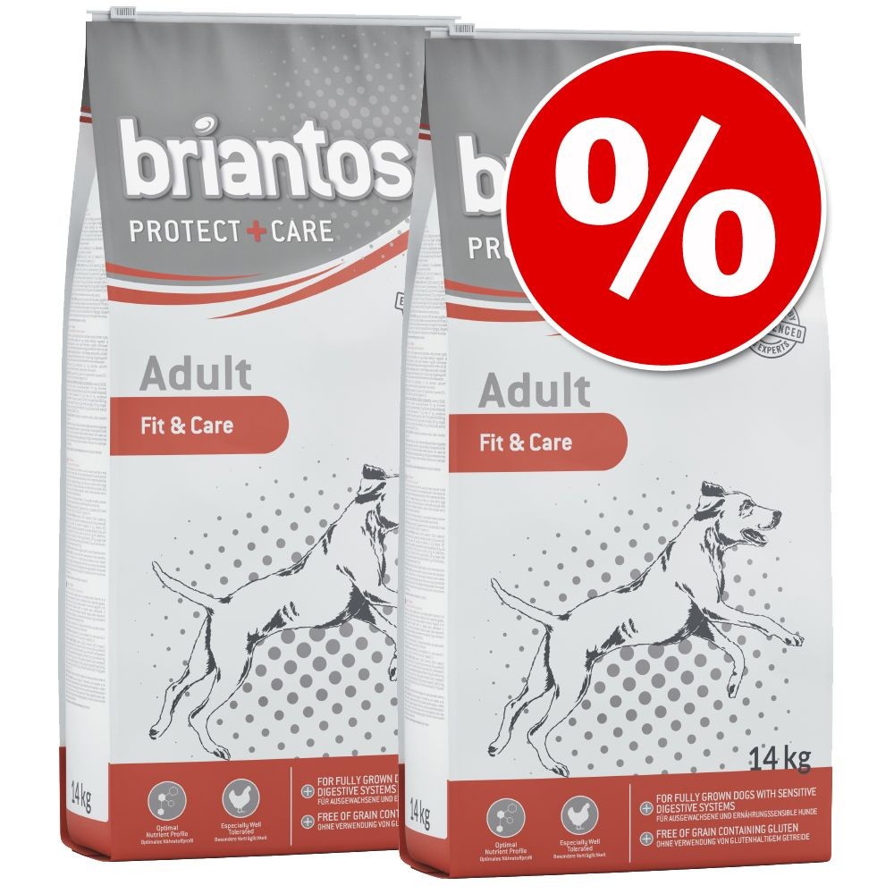 Sparpaket Briantos Protect + Care 2 x Großgebinde - Junior Young & Care ( 2 x 14 kg)
