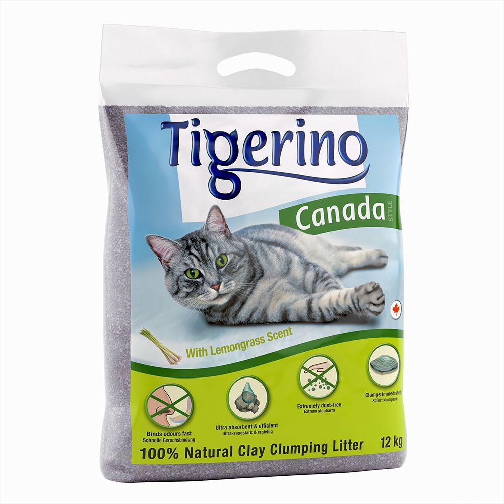 12kg Canada Tigerino senteur citronnelle Litière pour chat