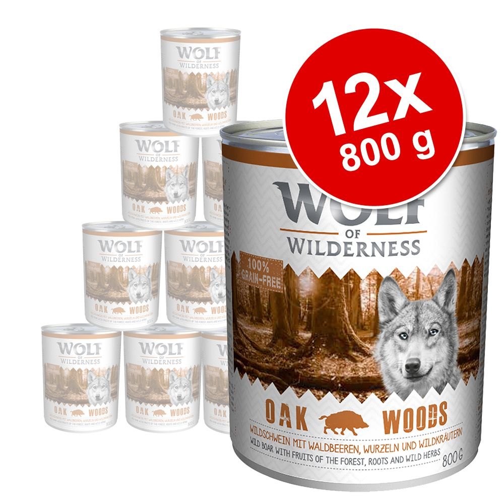 Sparpaket Wolf of Wilderness 12 x 800 g - gemischtes Paket