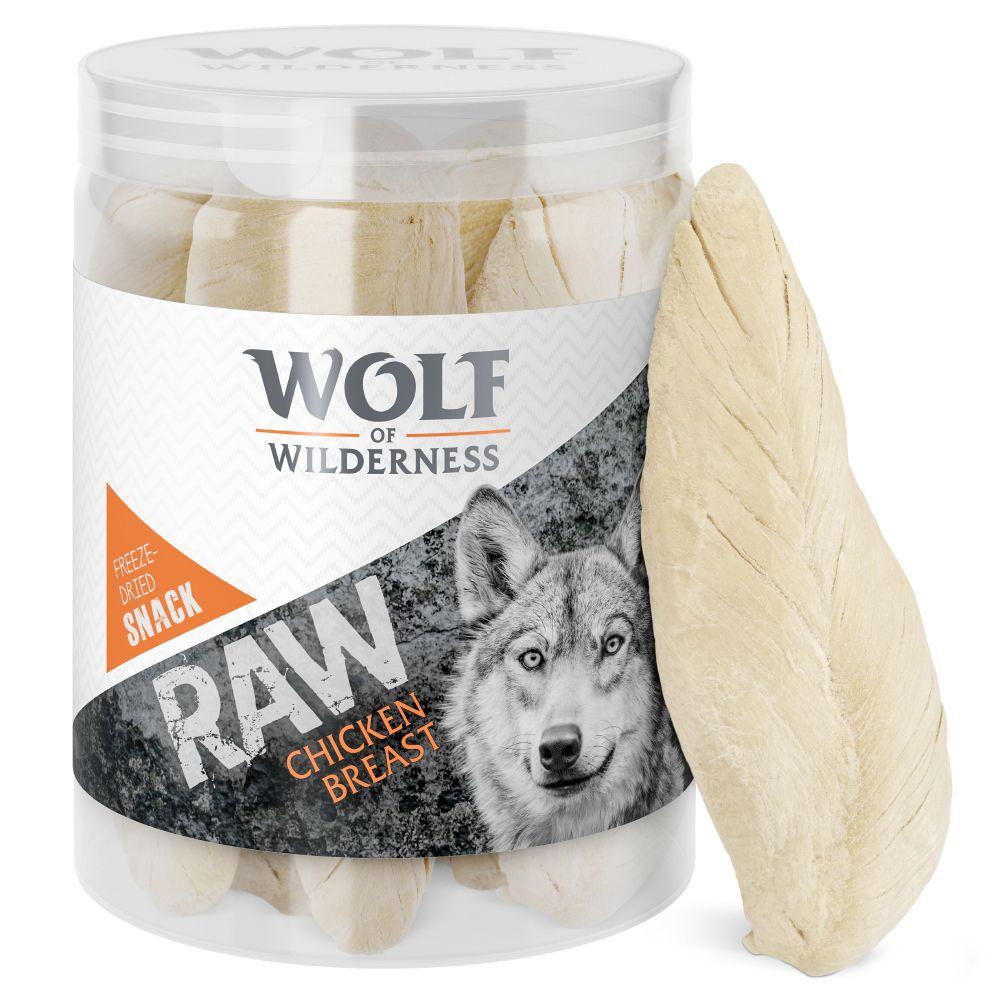 110g RAW Friandises lyophilisées filet de poulet Wolf of Wilderness - Friandises pour chien
