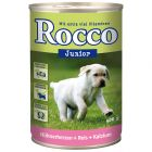 INOpets.com Anything for Pets Parents & Their Pets Rocco Junior 6 x 400g - Chicken Hearts, Rice & Calcium