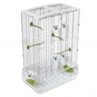 Hagen Vision Bird Cage for Medium Birds (M02) - White: 61 x 38 x 87.5 cm (L x W x H)