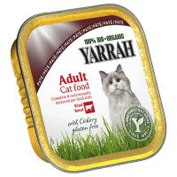 Yarrah Organic Tray Saver Pack 12 x 100g - Chunks: Chicken & Turkey with Aloe Vera