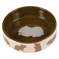 Trixie Ceramic Food Bowl for Small Pets - Hamster 80ml / 8cm Diameter