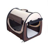 Easy Go Folding Transport Box - Brown / Beige - Size M: 65 x 49 x 50 cm (L x W x H)