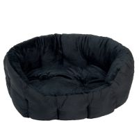 Cosy Panther Pet Bed - Black - 60 x 55 x 22 cm (L x W x H)