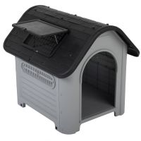 Plastic Dog Kennel Polly - Size 1: 74 x 60 x 66 cm (L x W x H)